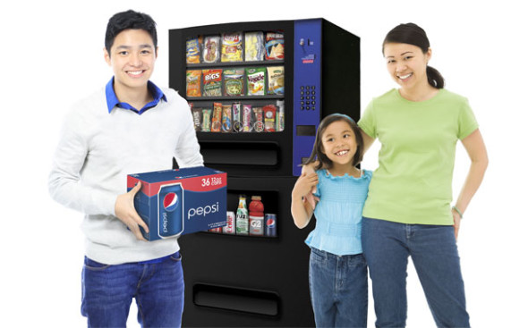 compact refreshment center family with Pepsi