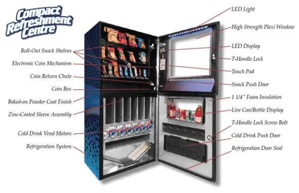 Compact Refreshment Centre Vending Machine